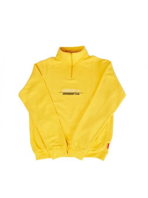 half zip - yellow