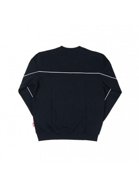 Crewneck Double Stripe - Black